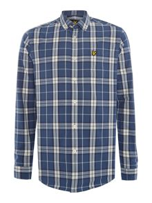 Lyle and Scott Check Long-Sleeve Cotton Shirt