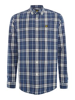 Check Long-Sleeve Cotton Shirt