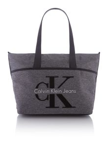 Calvin Klein Re-issue grey large tote bag