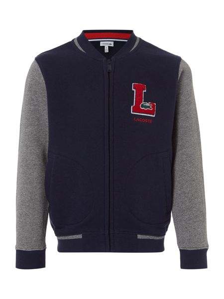 Lacoste Boys Zip Through Baseball Jacket