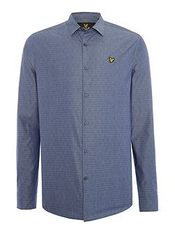 Lyle & Scott Long Sleeve Diagonal Stitch Shirt