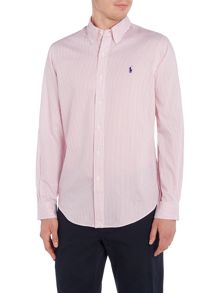 Polo Ralph Lauren Slim fit twill fine striped shirt