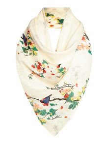 Guess Bird print long scarf