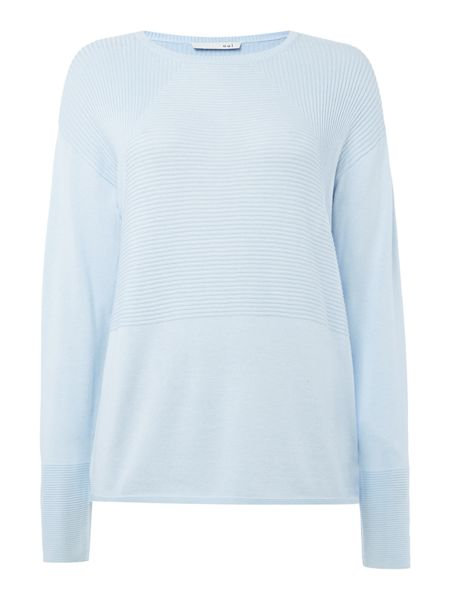 Oui Ribbed panel jumper