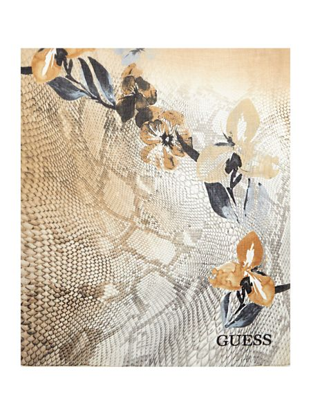 Guess Reptile print long scarf