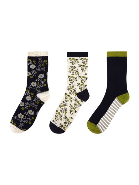Dickins & Jones Ditsy floral 3 pack socks
