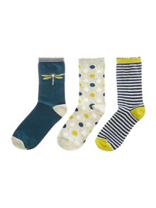 Dickins & Jones Dragonfly 3 pack socks