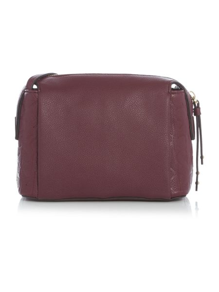 Calvin Klein Misha burgundy small crossbody bag