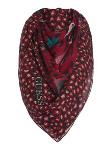 Guess Abstract leopard print long scarf