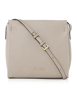 Marissa neutral flat crossbody bag