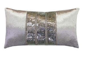 Kylie Minogue Renzo oyster 20x35cm cushion