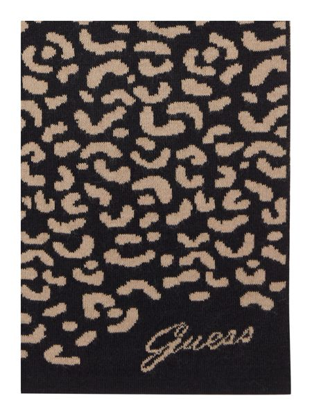 Guess Logo knitted scarf