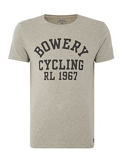 Bowery cycling print crew neck t-shirt