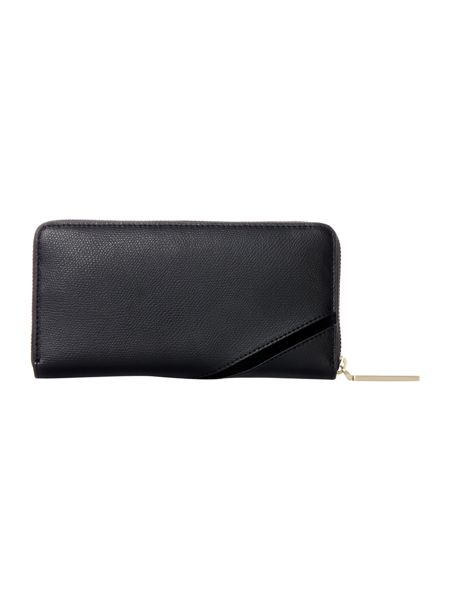 Calvin Klein Julia black large ziparound purse