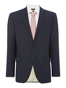 Gavi Italion wool Textured Stripe Suit Jacket