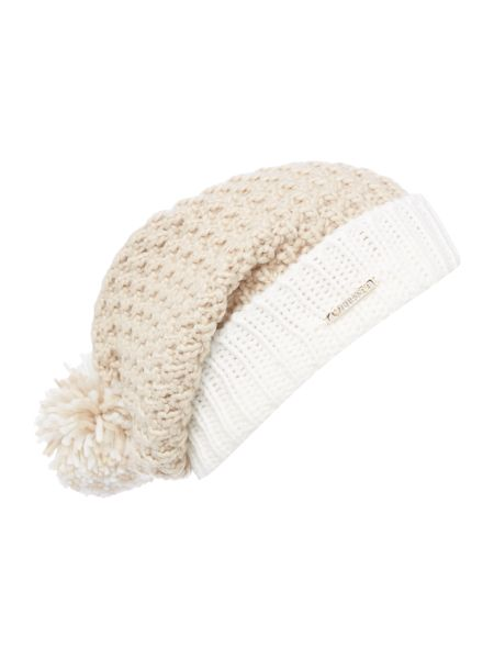 Guess Knitted pom pom hat