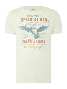 Polo Ralph Lauren Vintage Eagle-Print Crew-Neck T-shirt