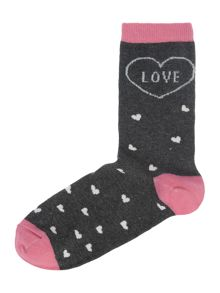 Therapy Love heart sock