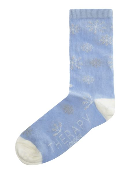 Therapy Snowflake sock