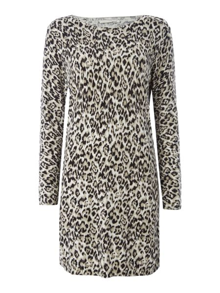 Oui Leopard print jumper dress