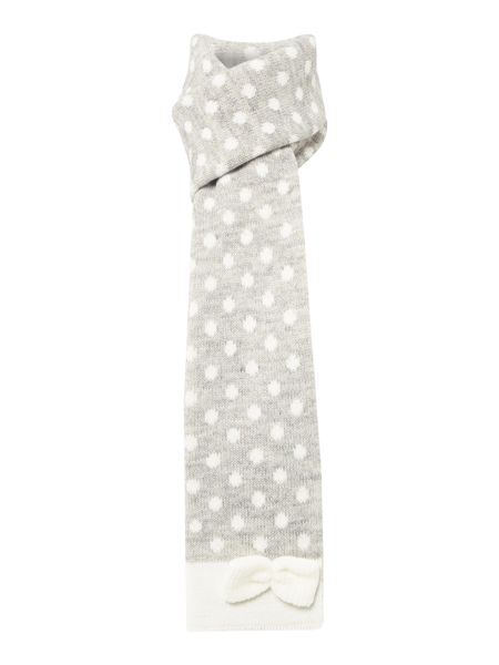 Dents Spotted bow scarf