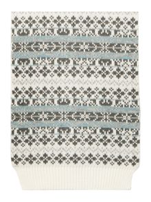 Dents Fairisle scarf