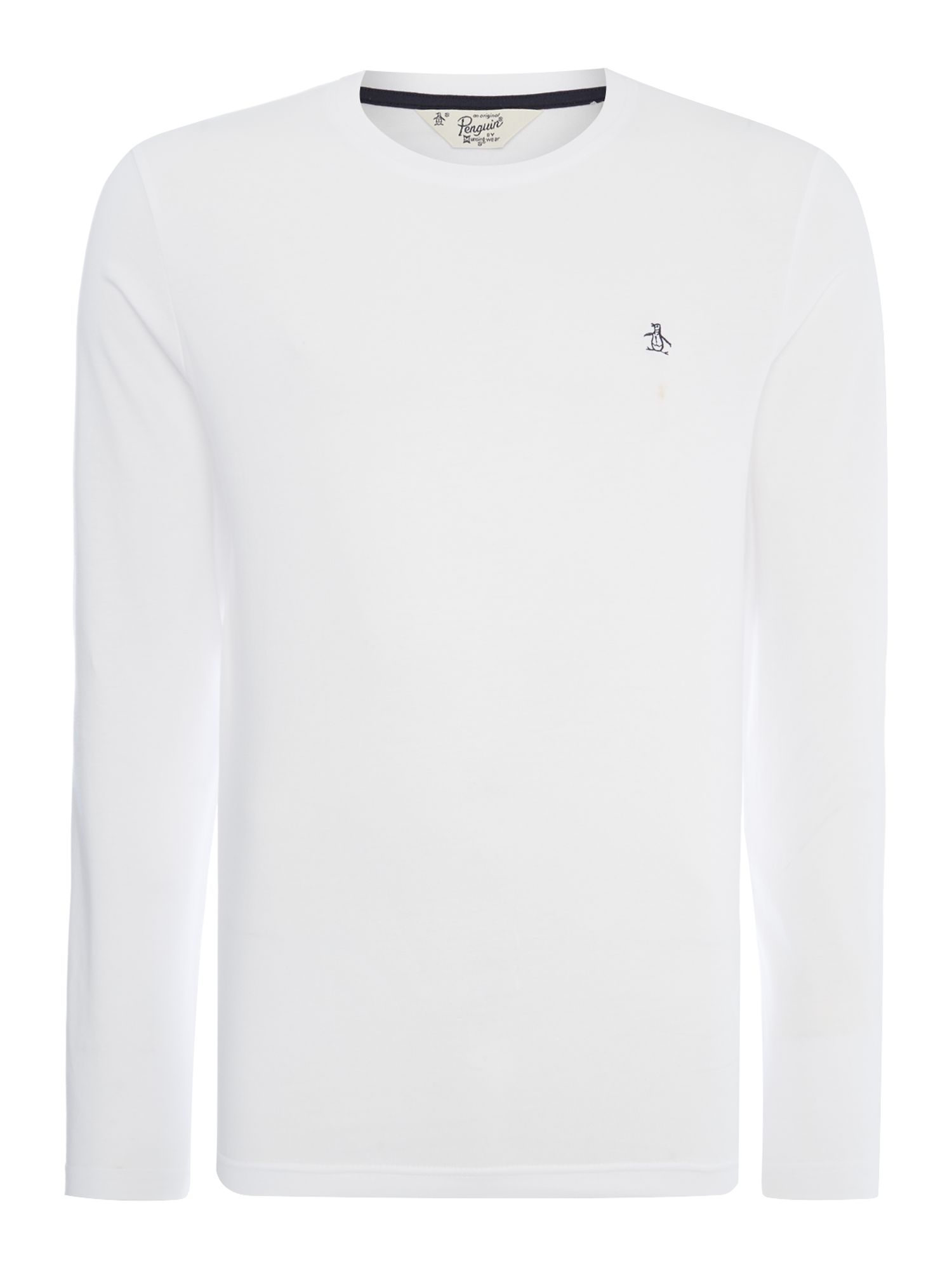 Men's Original Penguin Pin Point Logo Crew Neck T-Shirt, White