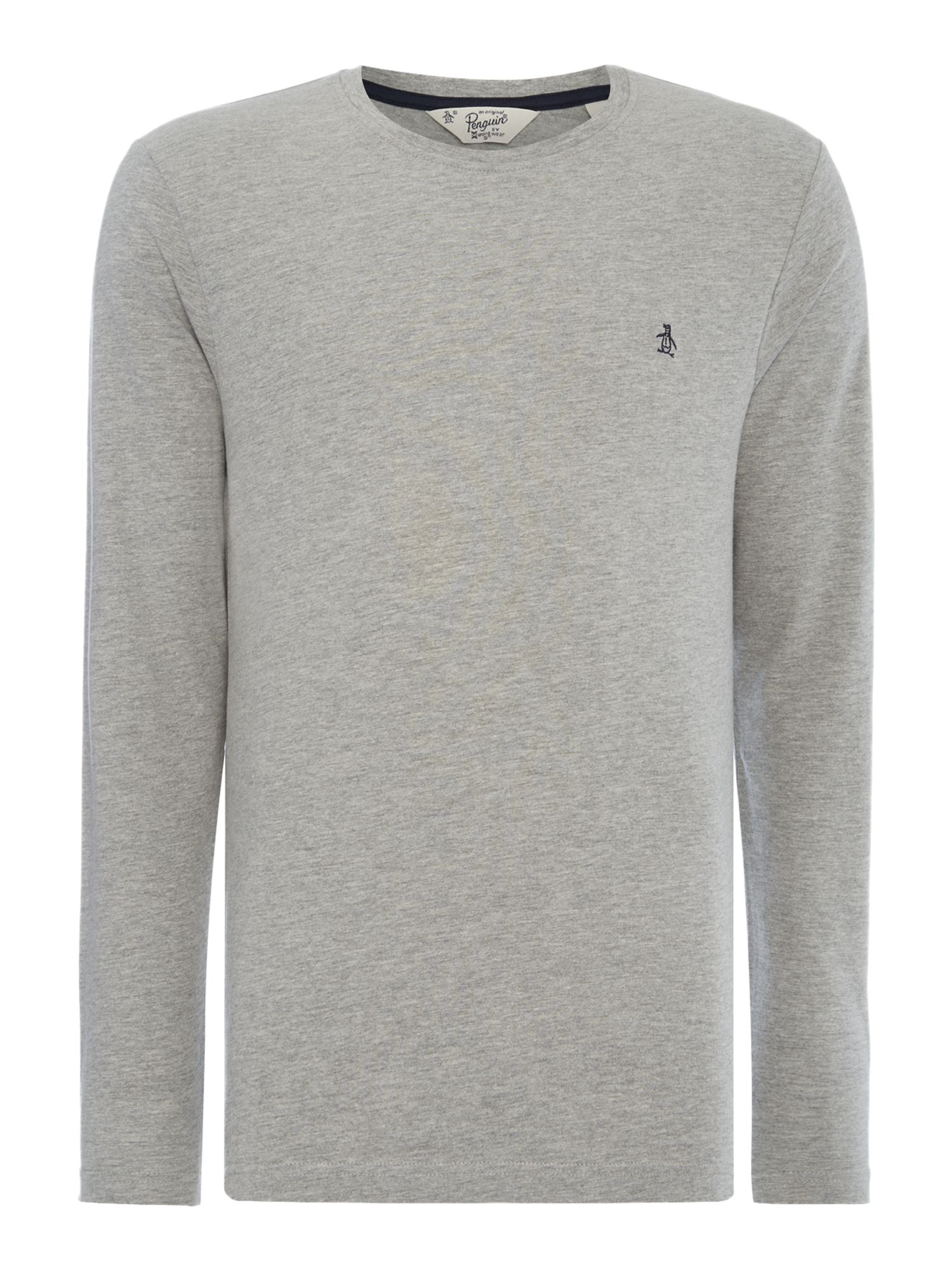 Men's Original Penguin Pin Point Logo Crew Neck T-Shirt, Grey