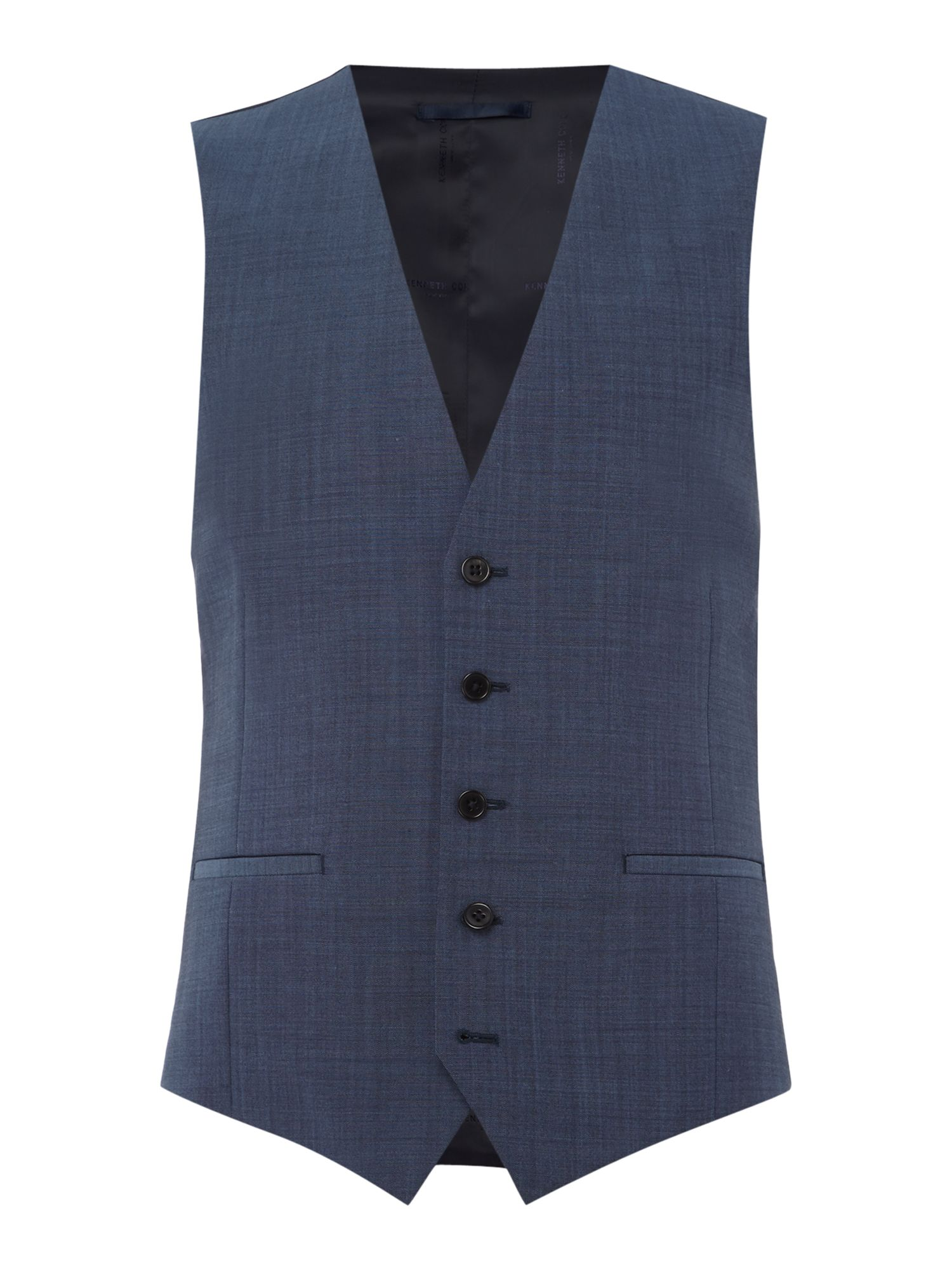 Mens Kenneth Cole Mercer Slim Fit Tonic Suit Waistcoat Chambray