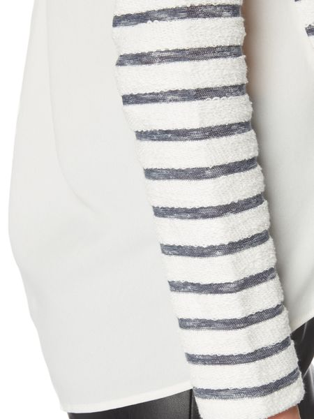 Maison De Nimes Stripe Woven Mix Sweat