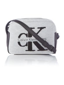 Calvin Klein Re-issue light grey small crossbody bag