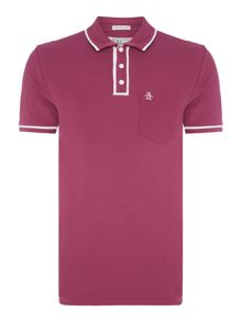 Original Penguin Earl Contrast Piping Trim Short Sleeve Polo