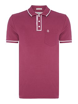 Earl Contrast Piping Trim Short Sleeve Polo