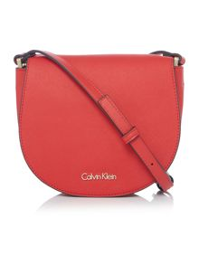Calvin Klein Marissa red small saddle bag