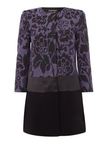 Ellen Tracy Print block coat topper