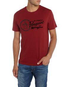 Original Penguin Flock Print Logo Short Sleeve T-shirt