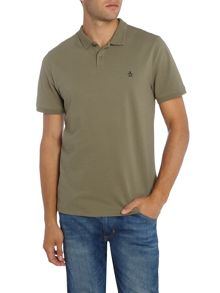 Original Penguin Raised-Rib Contrast Piping Short Sleeve Polo