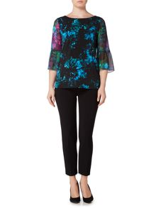 Ellen Tracy Bell sleeve blouse
