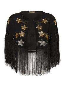 Biba Star Tassel Beaded Cape