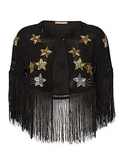 Star Tassel Beaded Cape