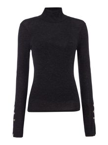 Label Lab Ribbed rollneck long sleeve top