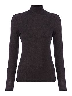 Ribbed rollneck long sleeve top