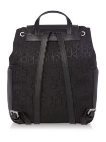 Calvin Klein Nina logo black backpack