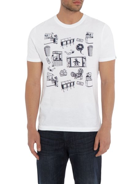 Original Penguin 3D Cinema Scene Crew Neck T-shirt