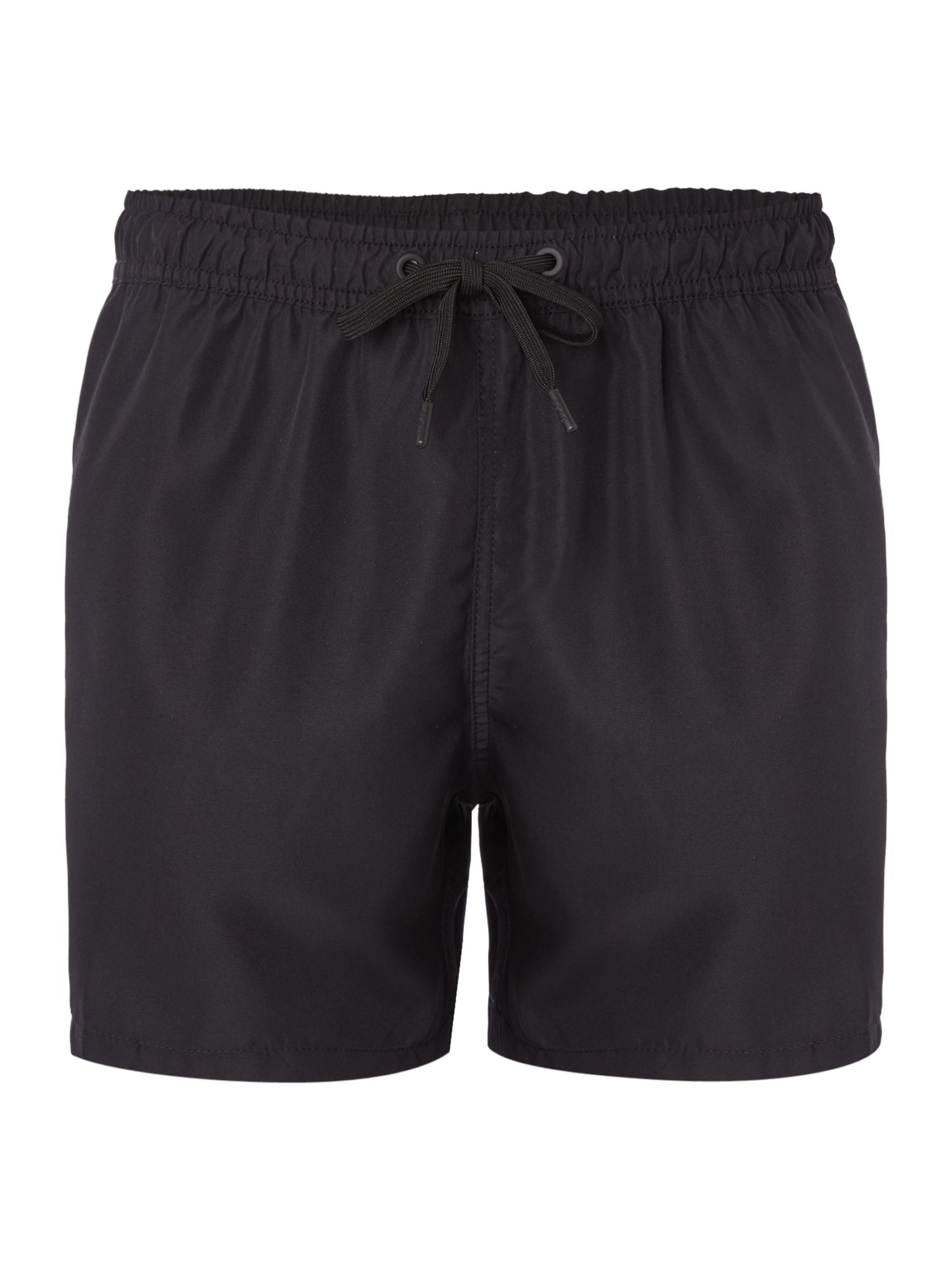 Men's Bjorn Borg Solid Mid Swim Shorts With Logo, Black
