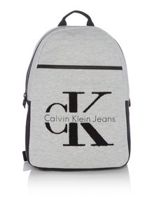 Calvin Klein Re-issue light grey large backpack