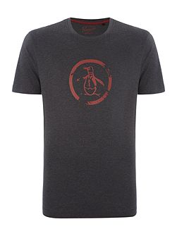Distressed Circle Logo Short Sleeve T-shirt