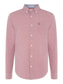 Original Penguin Mini Gingham Long Sleeved Shirt