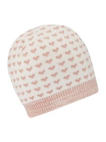 Dents Heart print hat