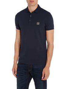 Hugo Boss Pavlik slim fit patch logo polo shirt